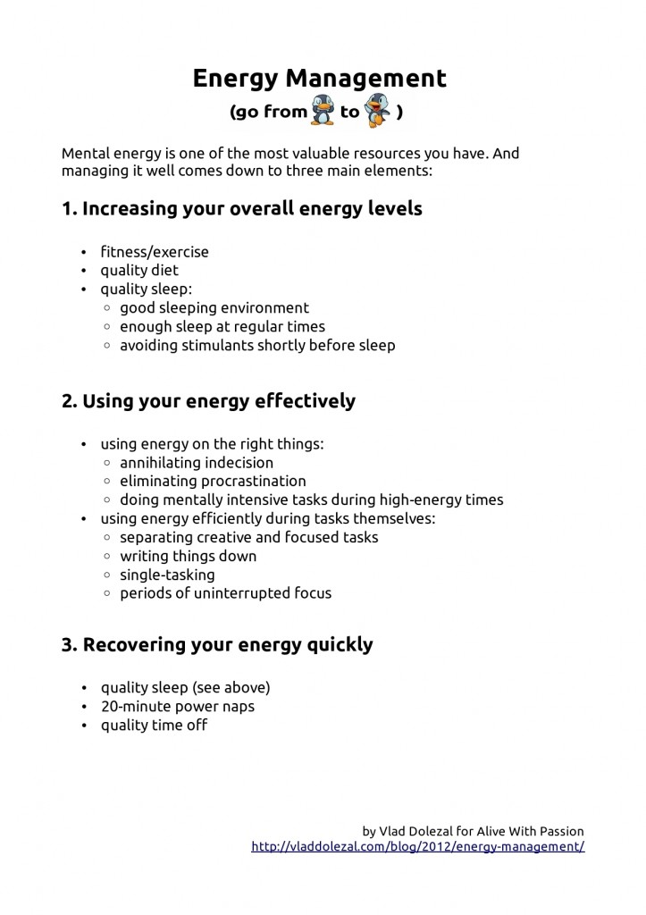 A summary of energy management